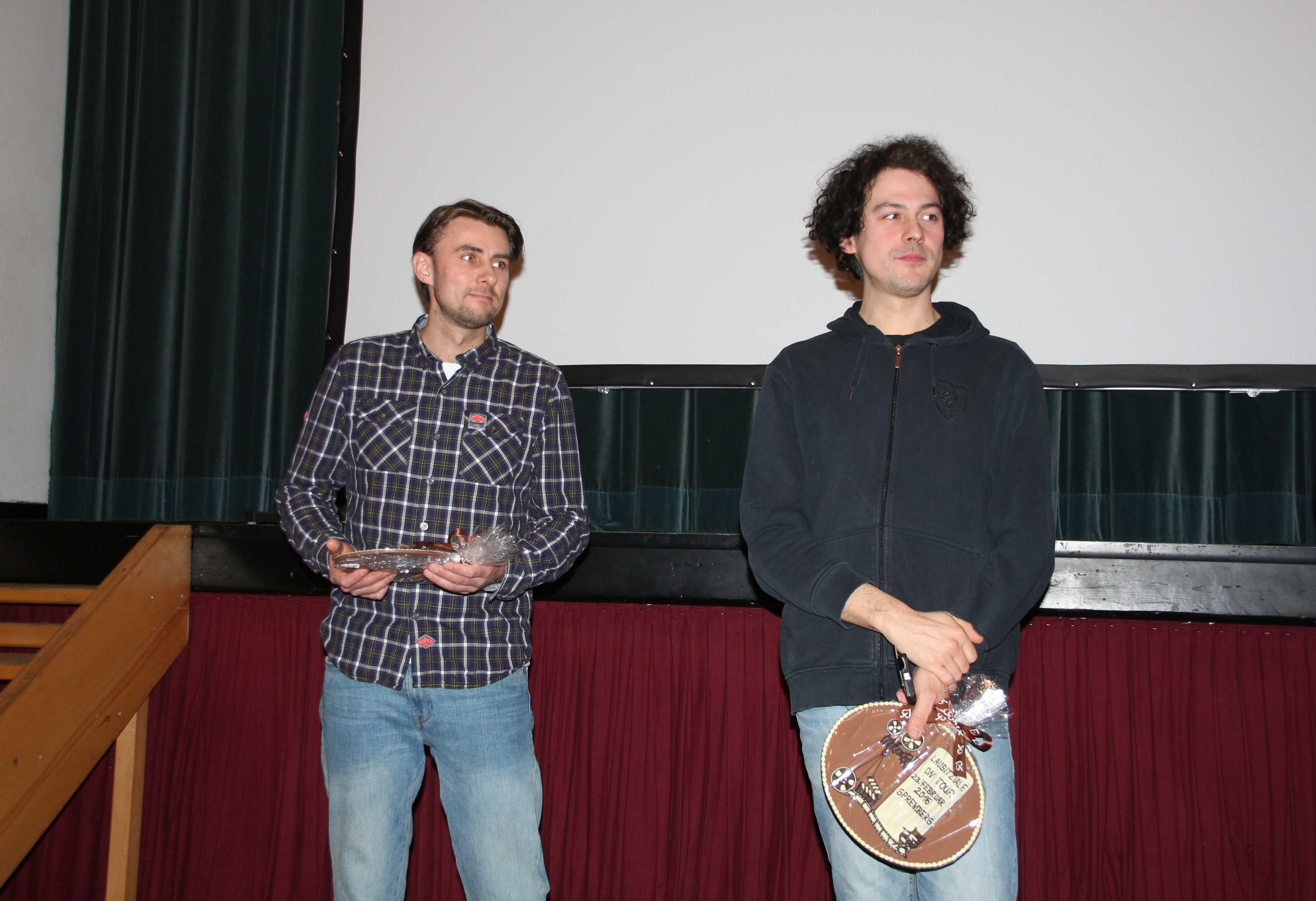 6 Regisseur Robert Heber und Kameramann Andrej Johannes Thieme bereit für Fragen